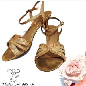 Gold Sparkly / Glitter 1 Inch Heels